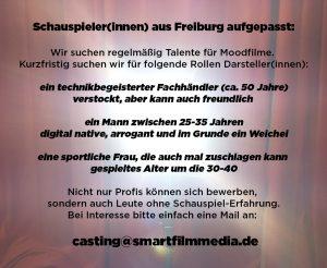 Smartfilmmedia Filmproduktion Casting